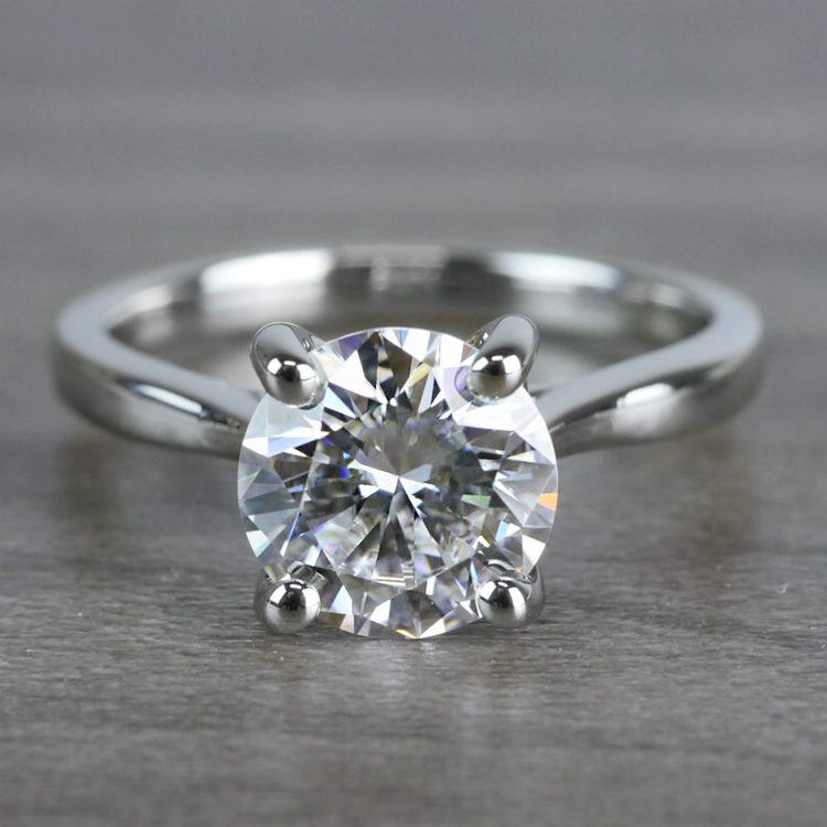 Bright Forever One Moissanite Solitaire Ring