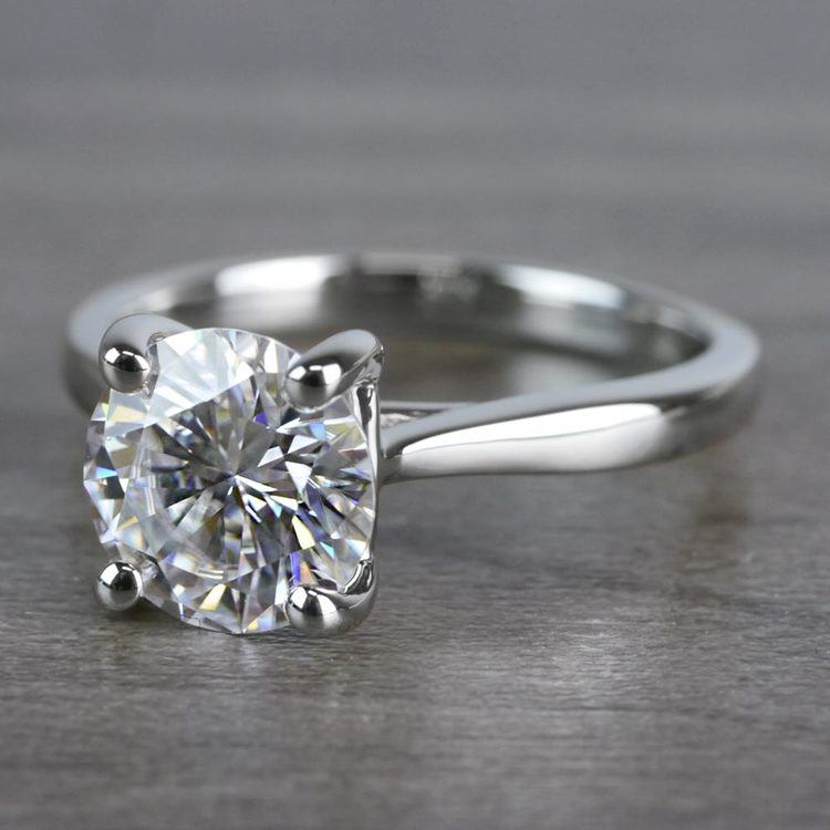 Bright Forever One Moissanite Solitaire Ring angle 2