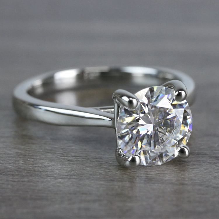 Bright Forever One Moissanite Solitaire Ring angle 3