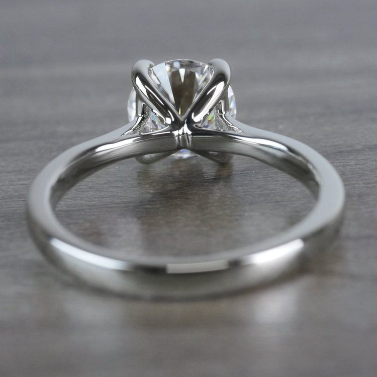 Bright Forever One Moissanite Solitaire Ring angle 4