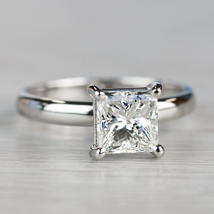 Brilliant Comfort-Fit Solitaire 2 Carat Diamond Ring angle 3
