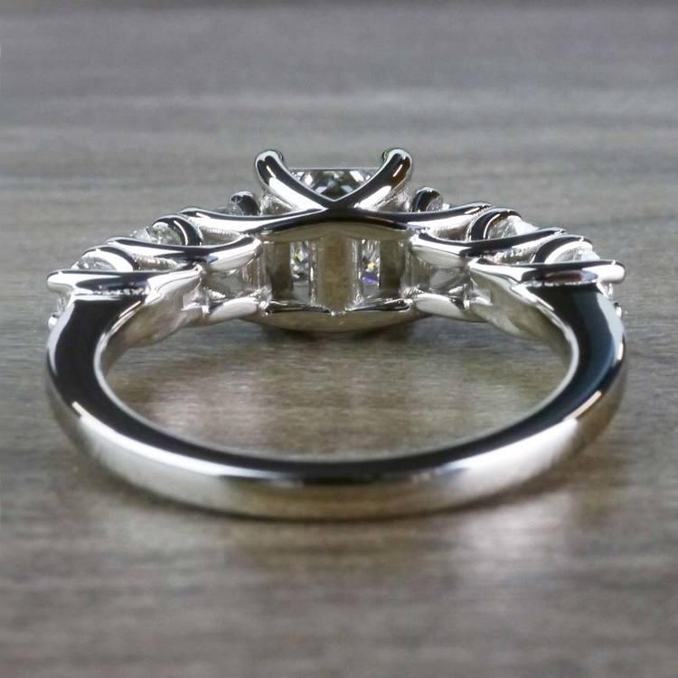 Exquisite Custom 7 Stone Diamond Trellis Engagement Ring  angle 4