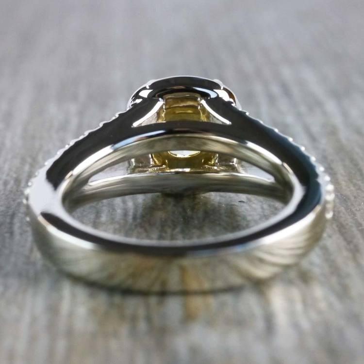 Brilliant Split Shank Yellow Cushion Engagement Ring angle 4