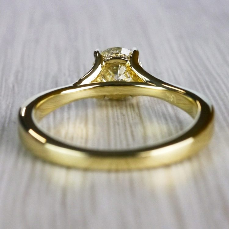 Brilliantly Bright Yellow Gold Split Shank Engagement Ring  angle 4