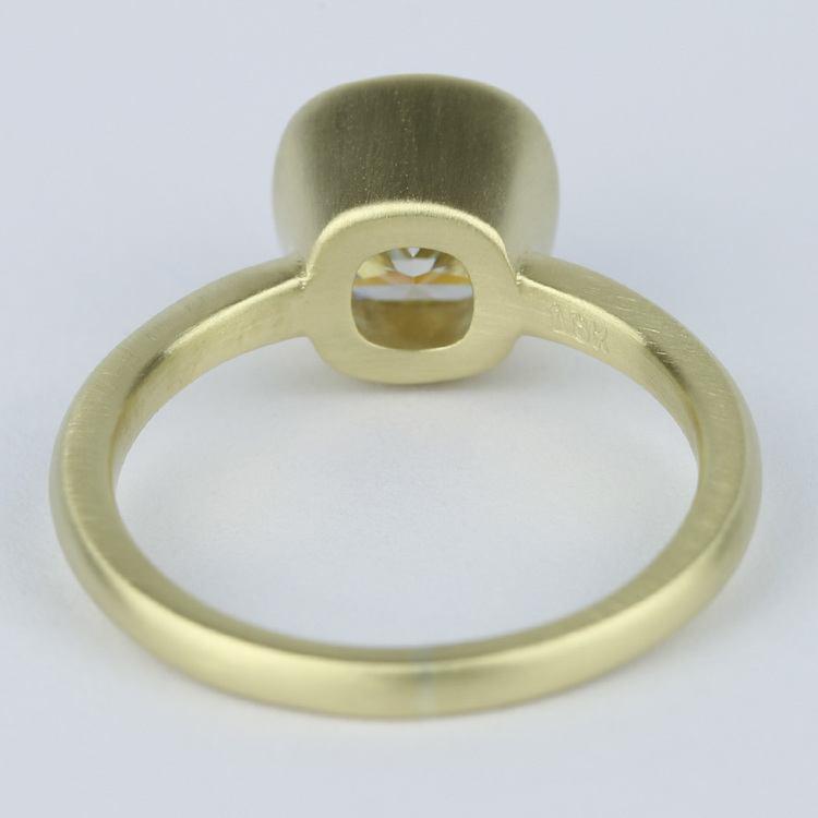 Bezel-Set Cushion Diamond Ring with Satin Finish angle 4