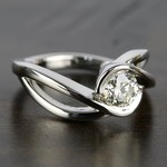Bypass Engagement Ring with 0.75 Carat Round Diamond - small angle 3