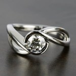 Bypass Engagement Ring with 0.75 Carat Round Diamond - small
