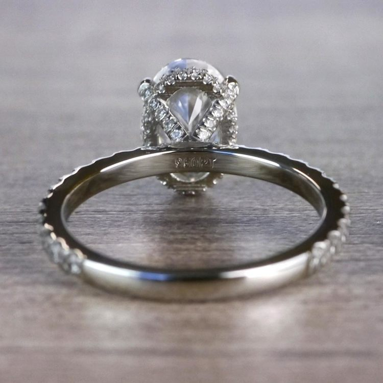 Captivating Custom Oval Diamond Engagement Ring angle 4