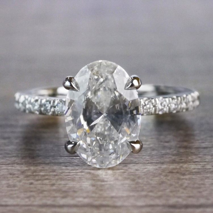 Captivating Custom Oval Diamond Engagement Ring