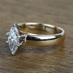 Cathedral 1 Carat Marquise Solitaire Diamond Engagement Ring - small angle 2