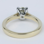 Cathedral Diamond Solitaire Engagement Ring with Claw Prongs - small angle 4