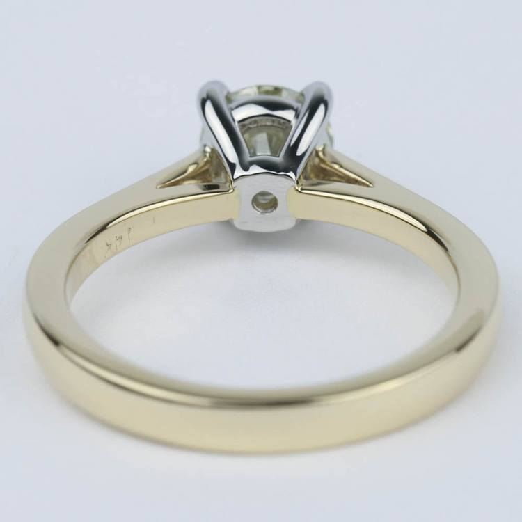 Cathedral Diamond Solitaire Engagement Ring with Claw Prongs angle 4
