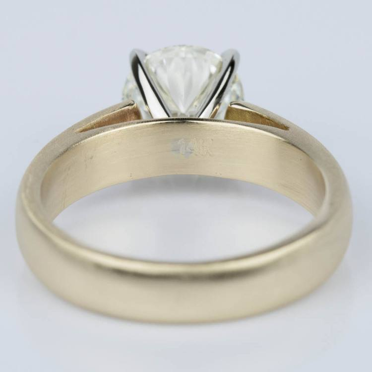 Cathedral Engagement Ring with a Brushed Finish in Gold (1.73 ct) angle 4