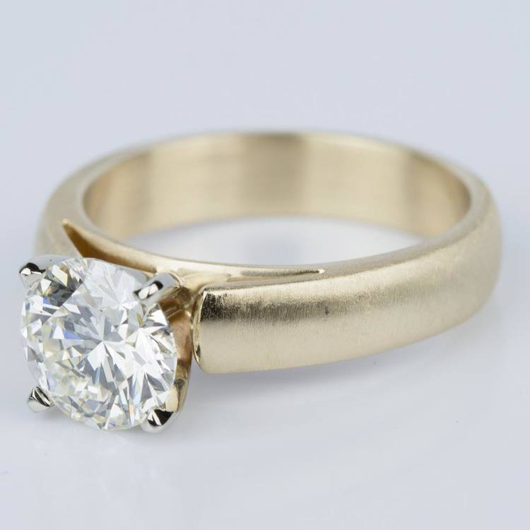 Cathedral Engagement Ring with a Brushed Finish in Gold (1.73 ct) angle 2