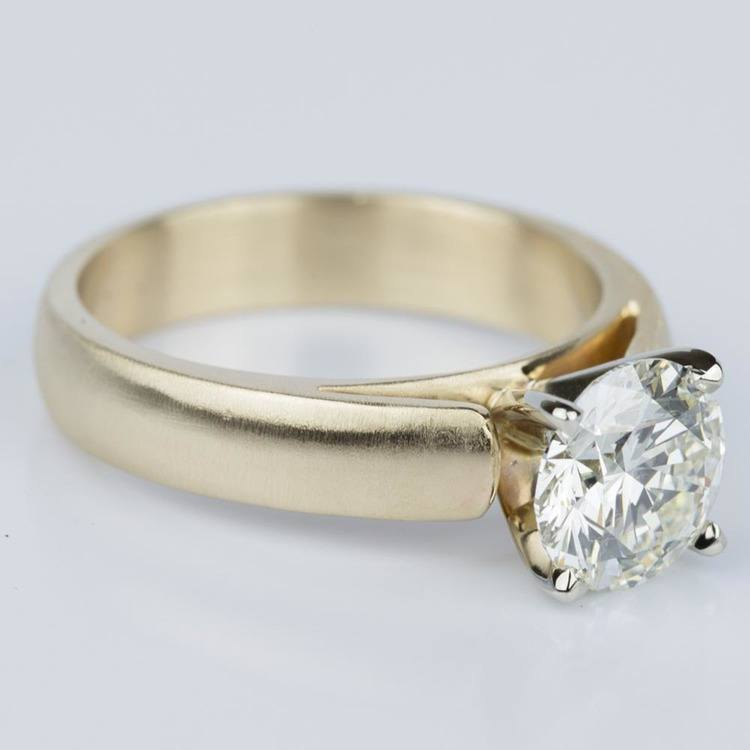 Cathedral Engagement Ring with a Brushed Finish in Gold (1.73 ct) angle 3