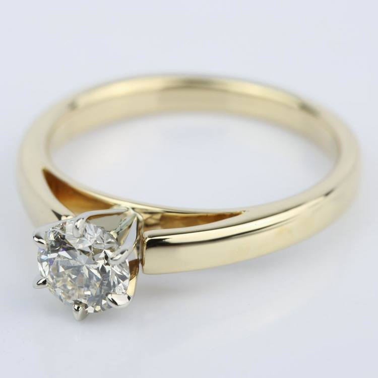 Cathedral Round Diamond Six-Prong Engagement Ring (0.70 ct.) angle 2