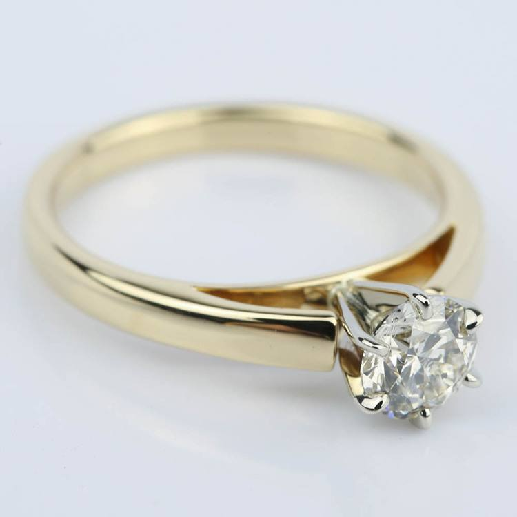 Cathedral Round Diamond Six-Prong Engagement Ring (0.70 ct.) angle 3