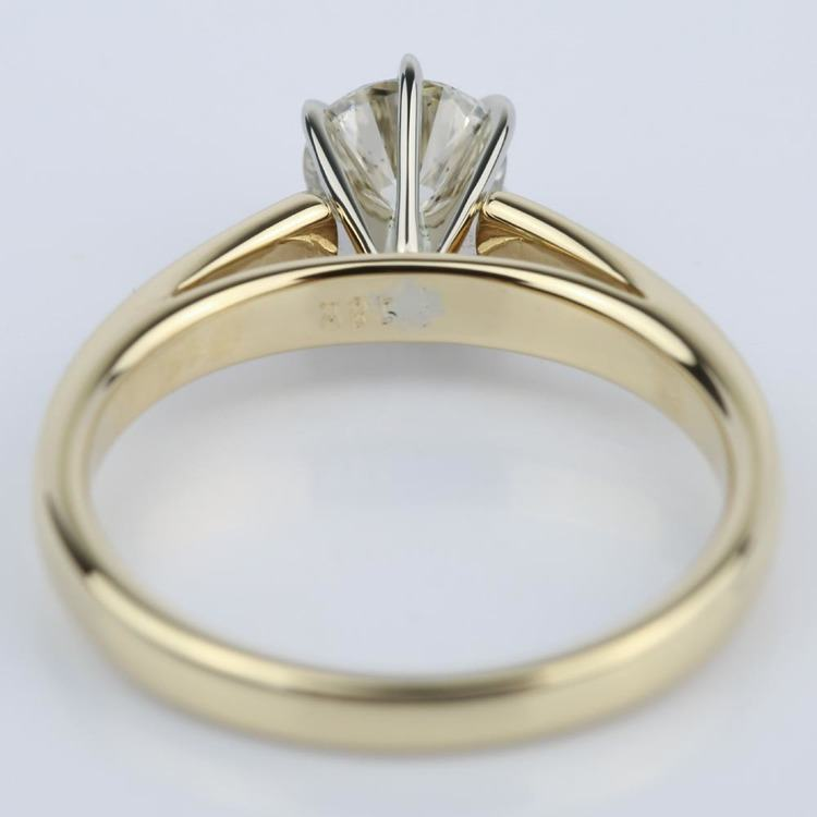 Cathedral Round Diamond Six-Prong Engagement Ring (0.70 ct.) angle 4