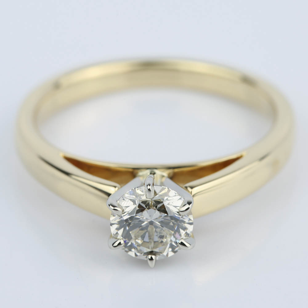 Ct Gold Diamond Solitaire Ring