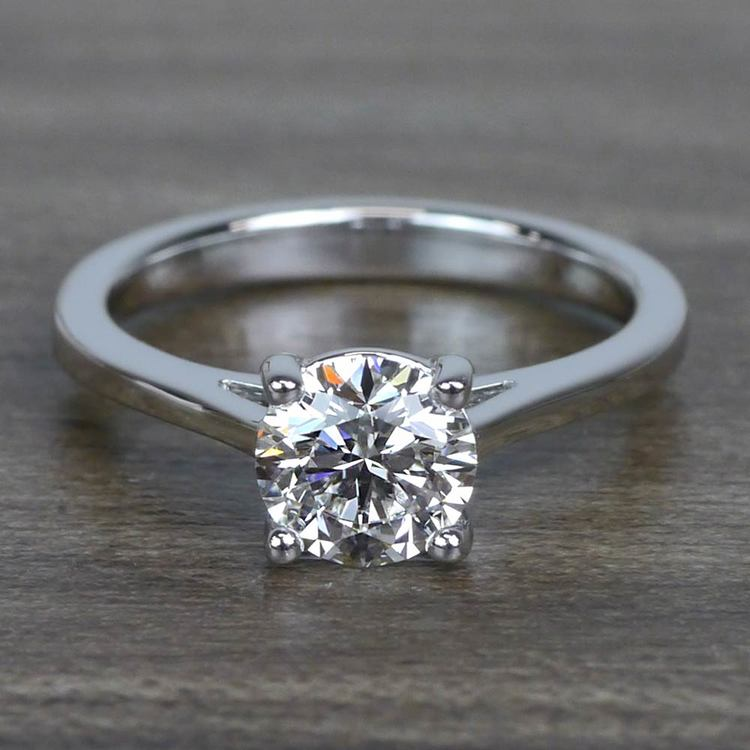 Sparkling Solitaire 1.01 Carat Round Loose Diamond Engagement Ring
