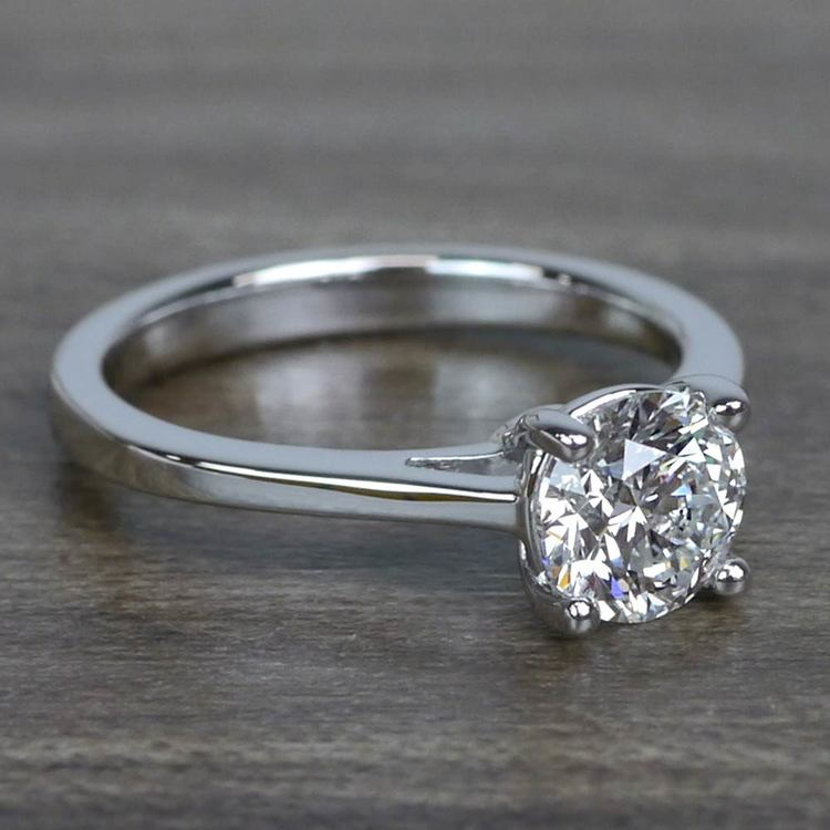 Sparkling Solitaire 1.01 Carat Round Loose Diamond Engagement Ring angle 3