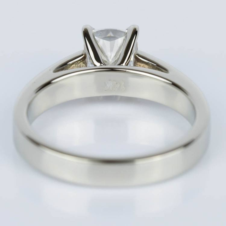 Cathedral Solitaire Cushion Diamond Engagement Ring (1.04 ct.) angle 4