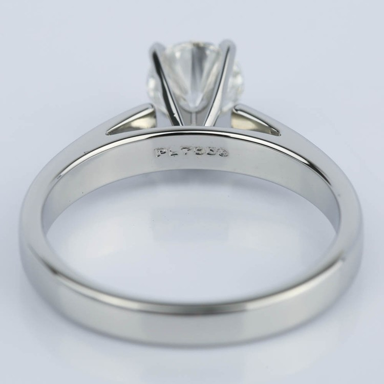 Cathedral Solitaire Diamond Engagement Ring in Platinum (0.90 ct.) angle 4