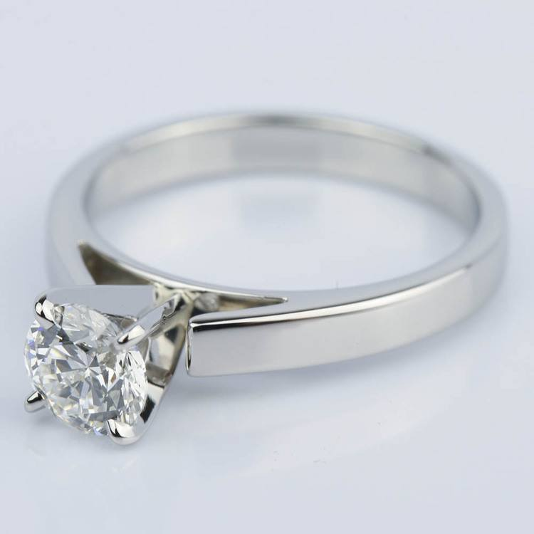 Cathedral Solitaire Diamond Engagement Ring in Platinum (0.90 ct.) angle 2