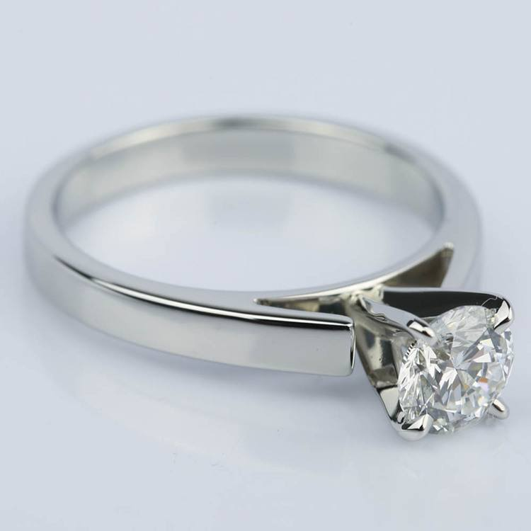 Cathedral Solitaire Diamond Engagement Ring in Platinum (0.90 ct.) angle 3