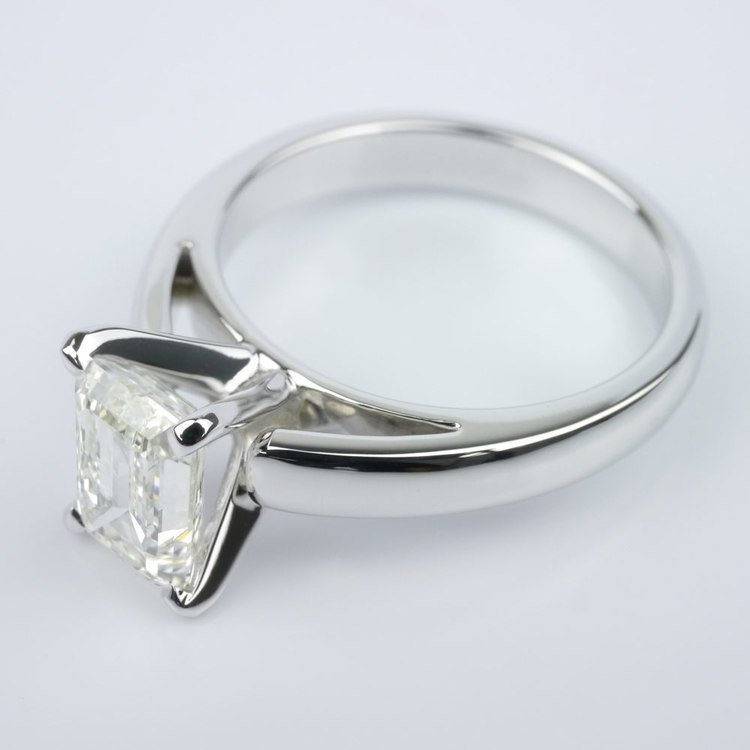 Cathedral Solitaire Engagement Ring angle 2