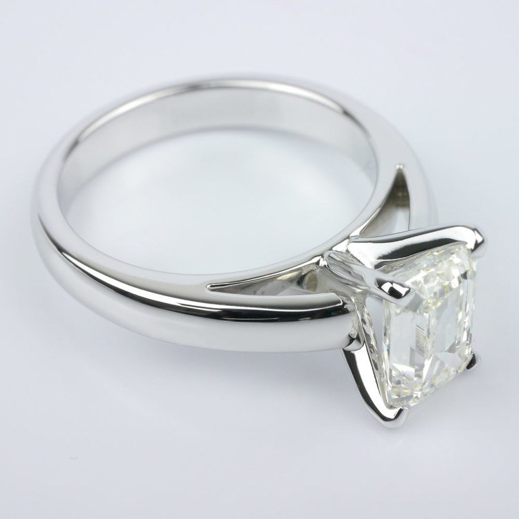 Cathedral Solitaire Engagement Ring angle 3