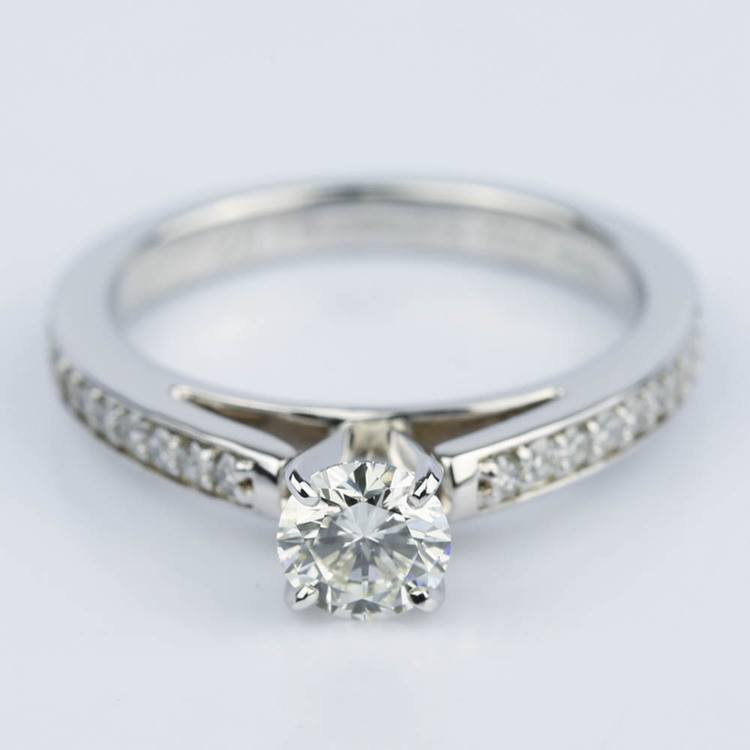 Cathedral Style Preset Diamond Engagement Ring (0.50 ct.)