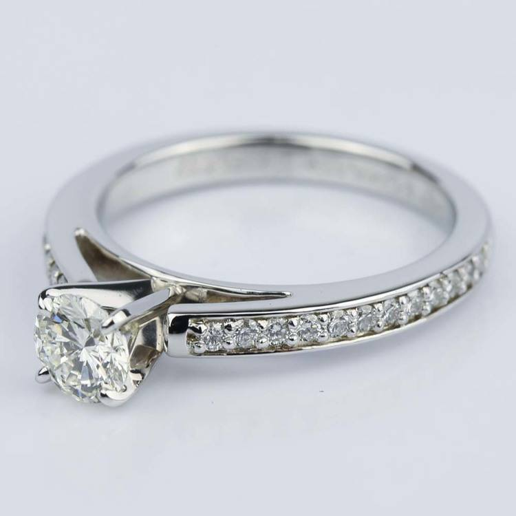 Cathedral Style Preset Diamond Engagement Ring (0.50 ct.) angle 2