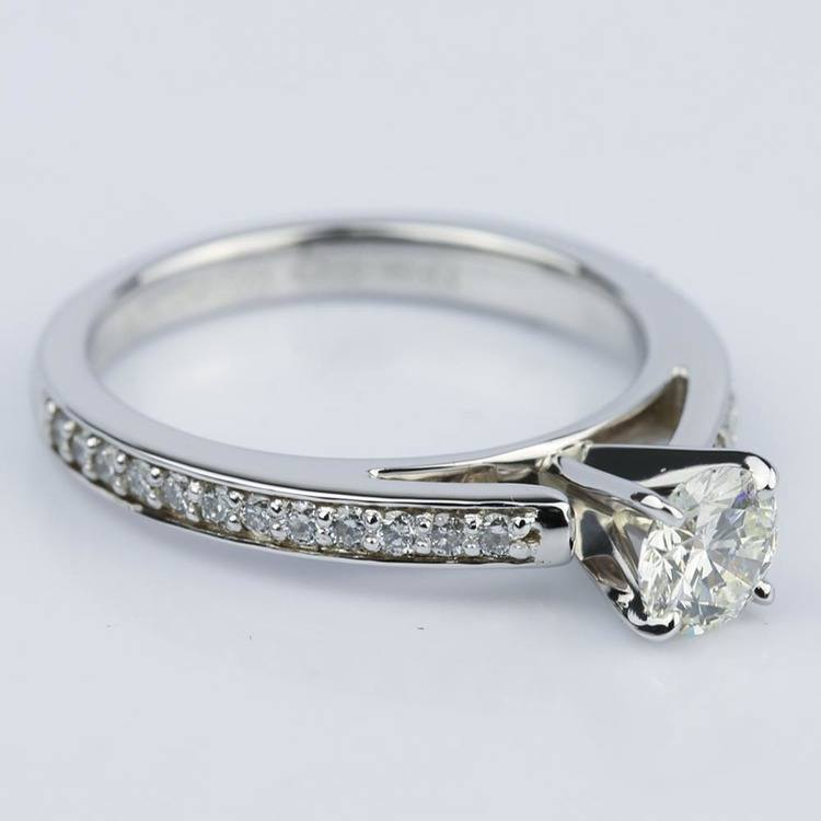 Cathedral Style Preset Diamond Engagement Ring (0.50 ct.) angle 3