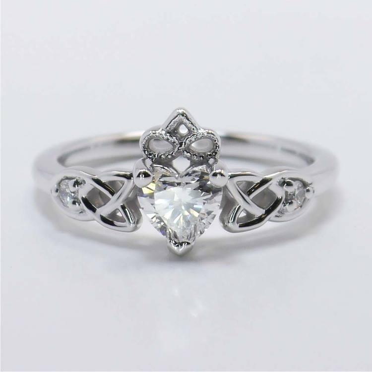 Celtic Claddagh Heart Diamond Ring (0.50 Carat)