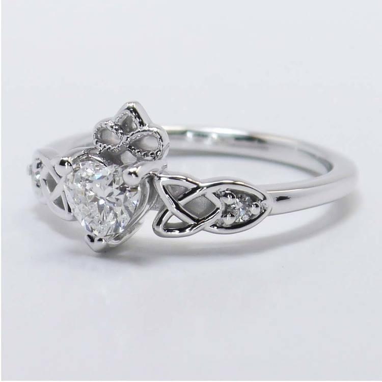 Celtic Claddagh Heart Diamond Ring (0.50 Carat) angle 3