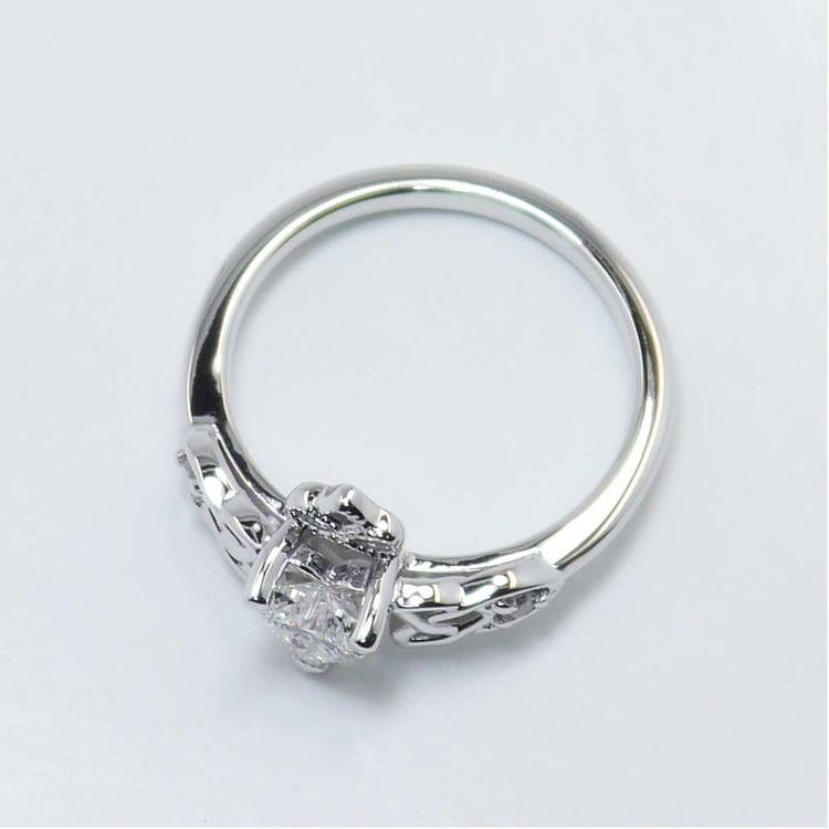 Celtic Claddagh Heart Diamond Ring (0.50 Carat) angle 4