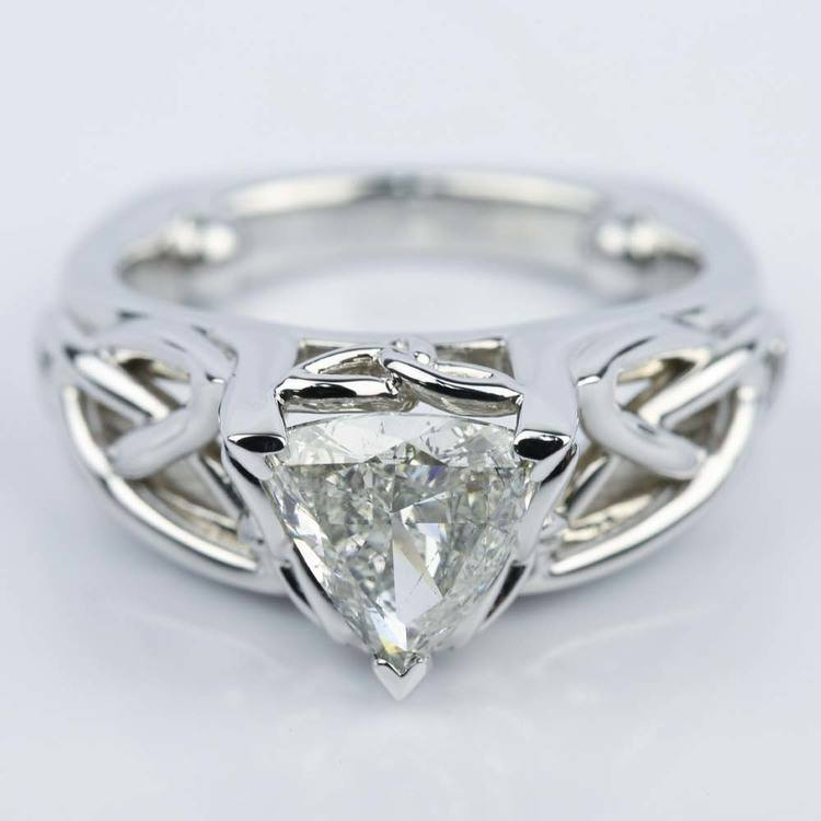 pagan wedding rings celtic knot trillion engagement ring 1 16 ct 6356