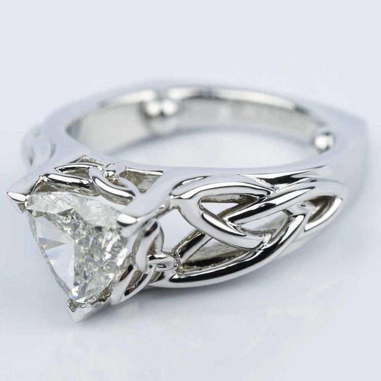 Celtic Knot Trillion Diamond Engagement Ring (1.16 ct.) angle 2