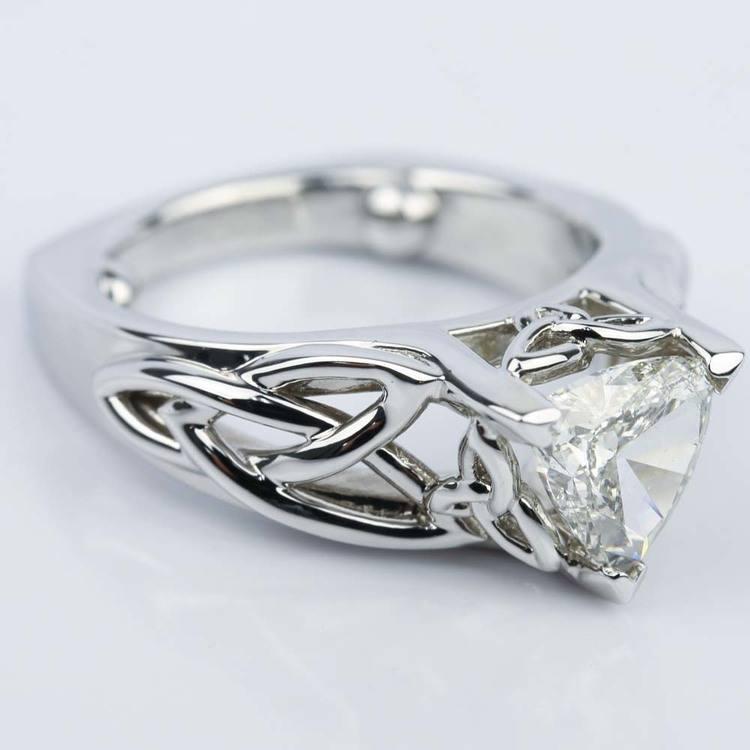 Engagement Rings Knot: Celtic Knot Trillion Diamond Engagement Ring (1.16 Ct