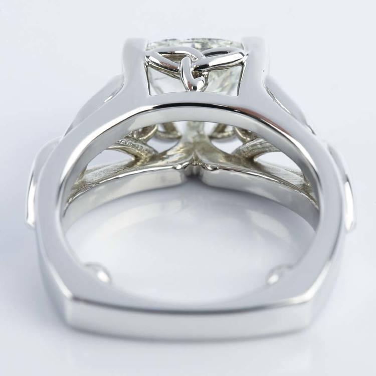 Celtic Knot Trillion Diamond Engagement Ring (1.16 ct.) angle 4