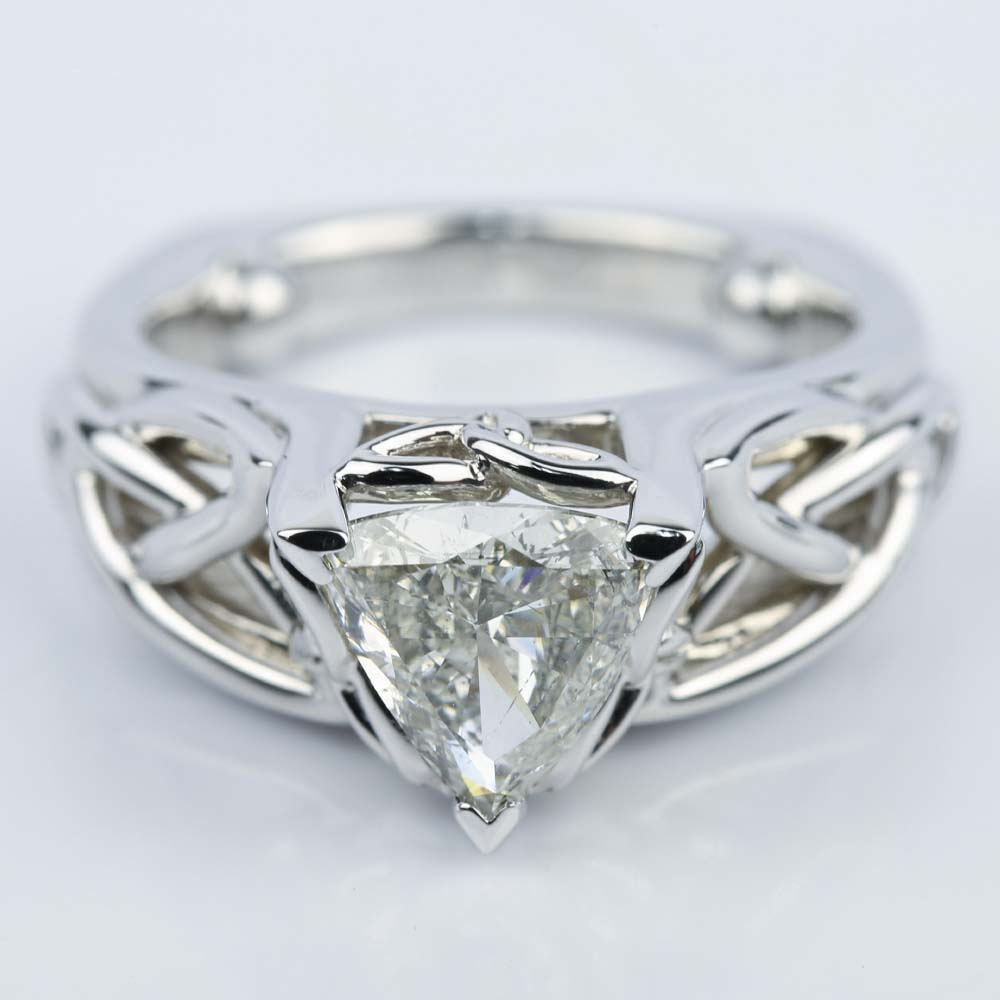Celtic Knot Trillion Diamond Engagement Ring (1.16 Ct