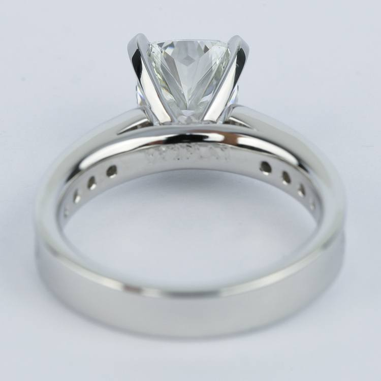 Channel Cathedral Cushion Diamond Engagement Ring (2 Carat) angle 4