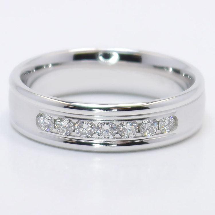 Channel Diamond Men's Wedding Ring