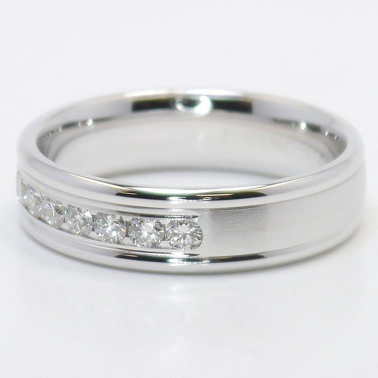 Channel Diamond Men's Wedding Ring angle 3