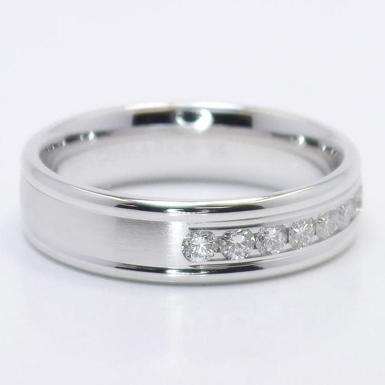 Channel Diamond Men's Wedding Ring angle 2