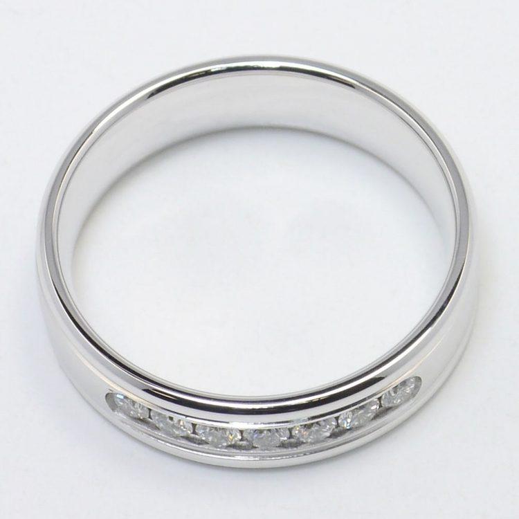 Channel Diamond Men's Wedding Ring angle 4
