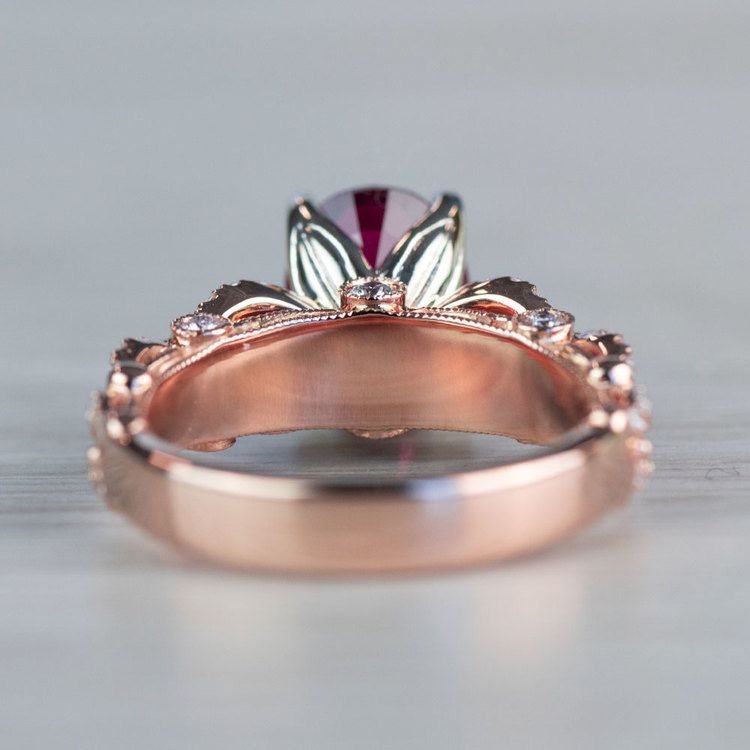 Chathem Ruby Engagement Ring In Rose Gold  angle 4