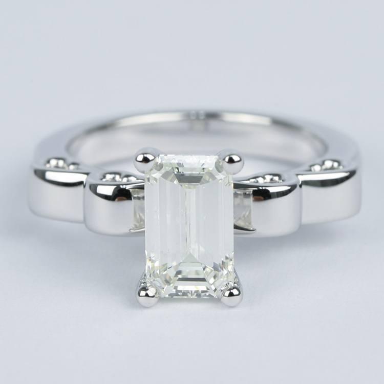 Cinderella Ribbon Emerald Diamond Engagement Ring (1.50 Carat)