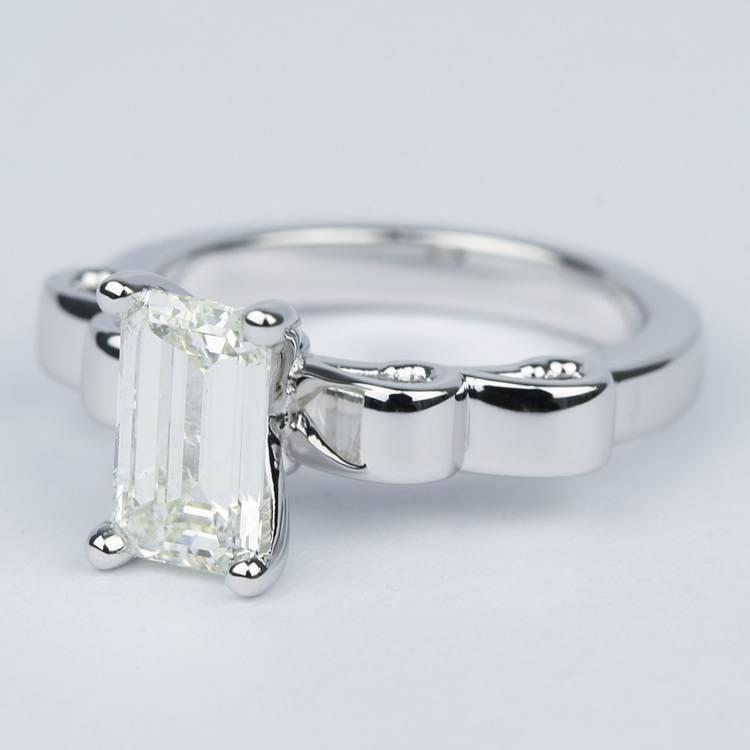 Cinderella Ribbon Emerald Diamond Engagement Ring (1.50 Carat) angle 2